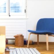 Visu Lounge Chair mit Stoffbezug